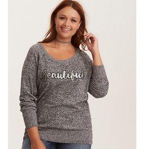 Sequin Beautiful Raglan Sweater